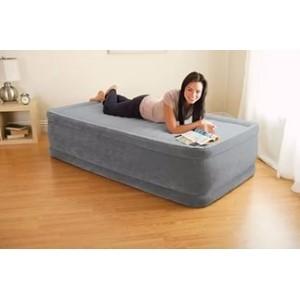 Односпальная надувная кровать Comfort Plush Elevated Airbed со встроенным насосом