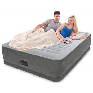 Двухспальная надувная кровать Comfort Plush Elevated Airbed со встроенным насосом