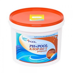 Ph+pool Хлор-60t ударный в таблетках по 20гр 5кг