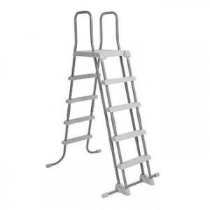 Лестница высотой 132 см для бассейна с площадкой INTEX 28077