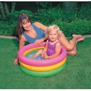 Надувной бассейн для малышей «Радуга»