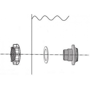 Соединитель с гайкой и резиновой прокладкой Intex