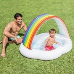 """Надувной бассейн для малышей """"Радужное облако"""" INTEX 57141"""