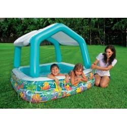 Надувной бассейн с навесом Аквариум