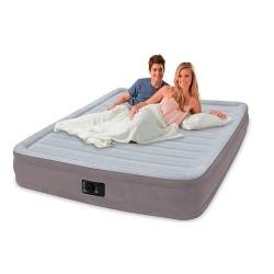 Надувная кровать полуторная с встроенным насосом Intex