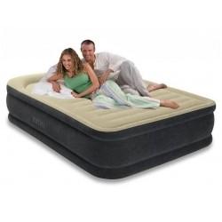 Высокая двуспальная надувная кровать Premium Comfort Airbed со встроенным насосом